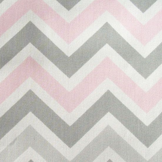 Pink gray chevron fabric chevron in pink and gray fabric for Grey baby fabric