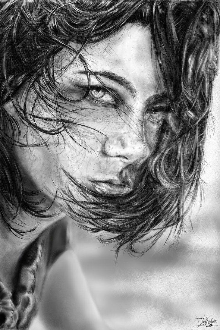 Girl Portrait by Willhorn.deviantart.com on @DeviantArt
