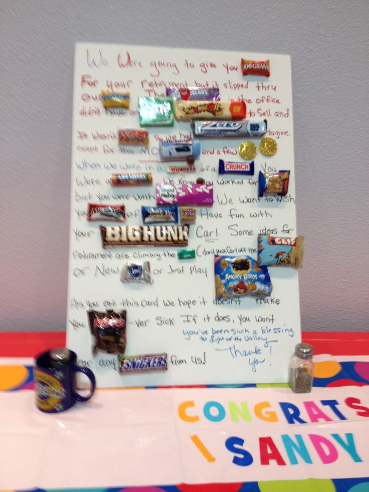 Retirement candy gram | Crafts | Candy grams, Retirement ...