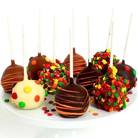 Fall Cake Pops by GourmetGiftBaskets.com