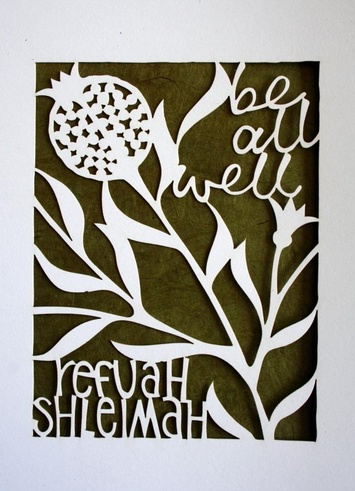 From Kim Phillips:  Prototype for first design in new line of Jewish greeting cards. What Jewish occasions would you like cards for?