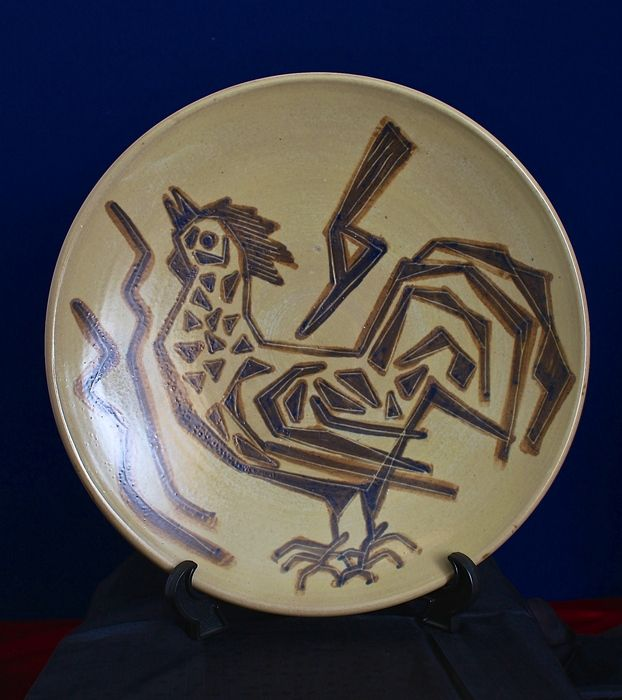 "Ambacht Volendam The Netherlands - ceramics plate ""Rooster"" - Catawiki Online Auctions"