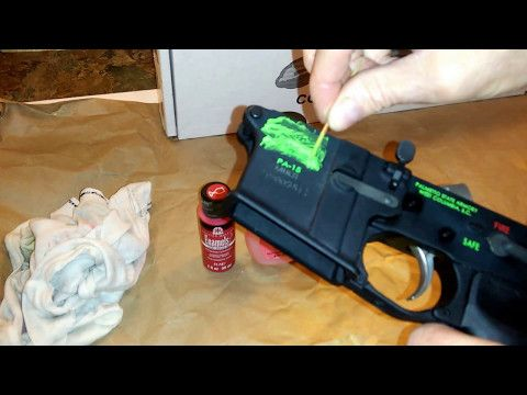 Backfill An AR-15 Receiver Markings  Color Fill  - YouTube