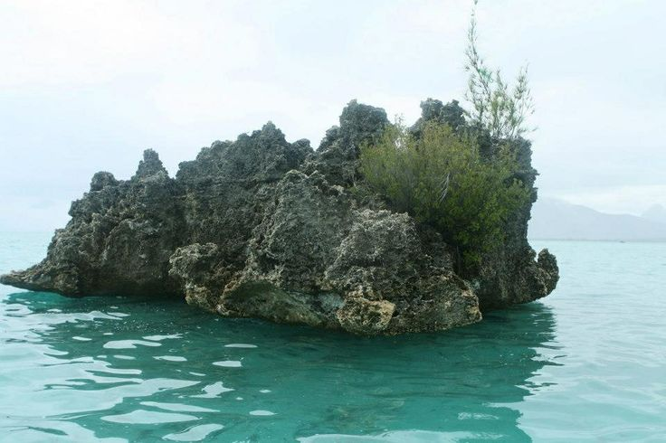 Lava Rock in the middle of the ocean in Mauritius #iloveluxresorts