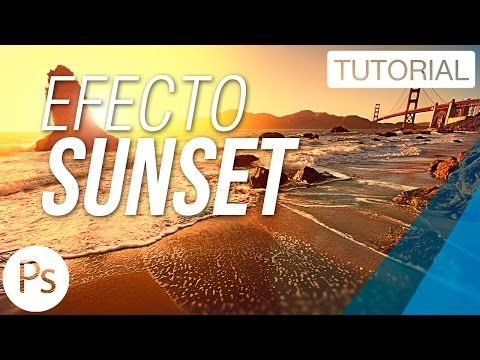 Efecto Sunset - Tutorial Photoshop - YouTube