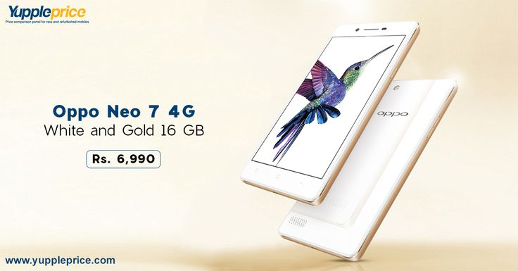 Buy #Oppo Neo 7 4G White and Gold 16 GB and Get Up to Rs 20,000 Off on old Device. Hurry! LIMITED #OFFER!