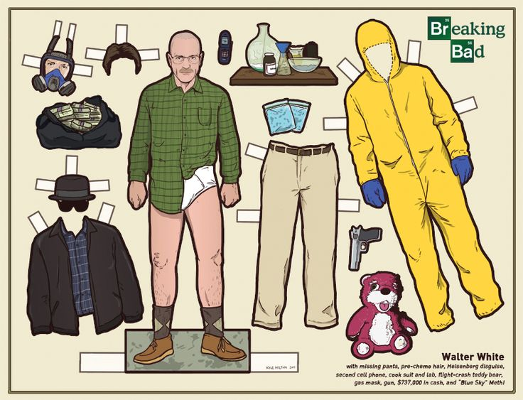 Walter White Paper Doll from Breaking Bad