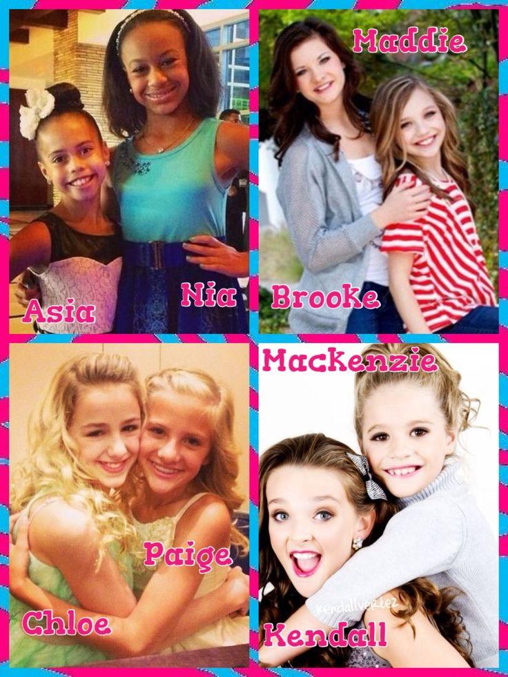 Dance moms! Chloe Paige Kendall Mackenzie Asia Nia Brooke Maddie! :)