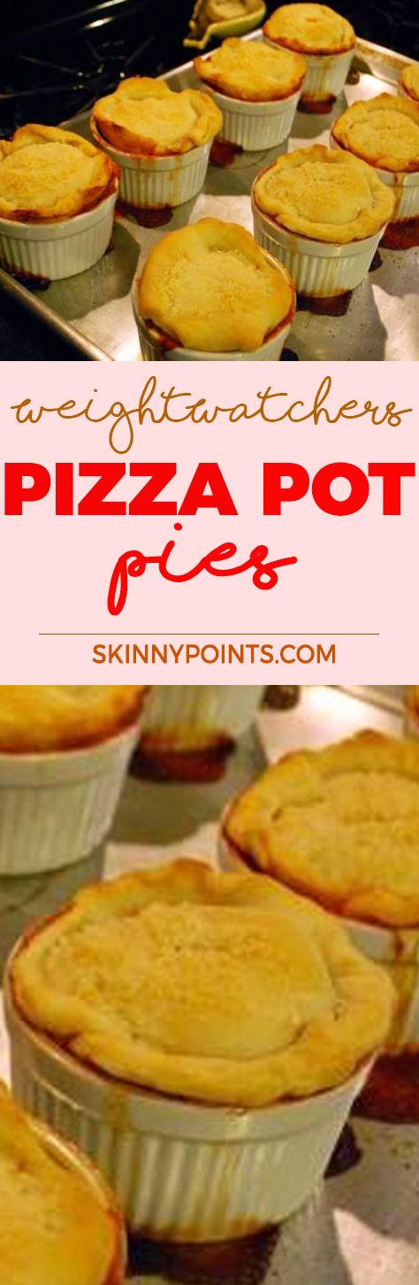 Pizza Pot Pies - Come with only 5 weight watchers smart points and Point plus