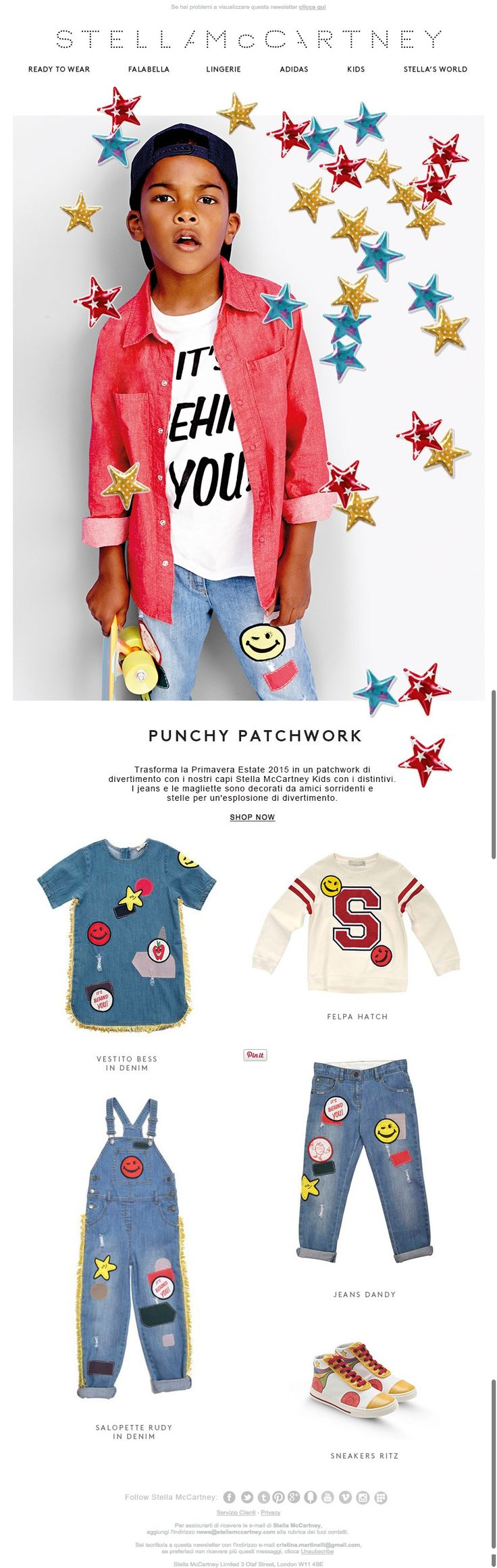 #newsletter Stella McCartney Kids 03.2015 Distintivo d'onore