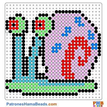 Gary plantilla hama bead. Descarga una amplia gama de patrones en formato PDF en www.patroneshamabeads.com