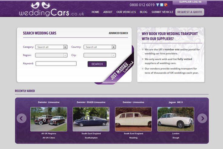 Wedding Cars - One of the largest car hire portal in the UK. http://www.weddingcars.co.uk #branding #design #development #seo