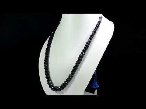 Natural Sapphire 495ct Big Size Faceted Beaded Gemstone String Necklace