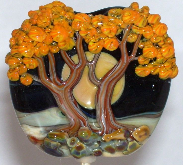 in the handmade lampwork focal glass bead sra by molly