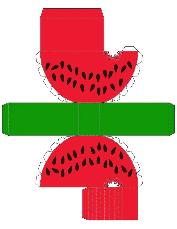 Printable Watermelon Box ... free to use :)