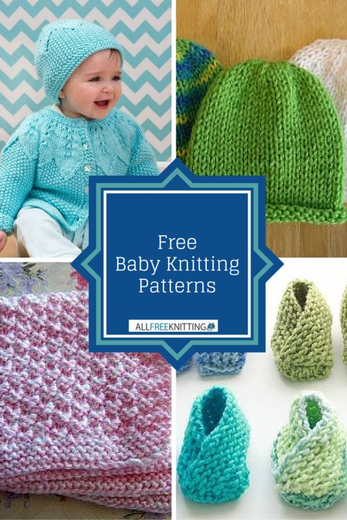 What's better than one free baby knitting pattern?  48+ Free Baby Knitting Patterns, of course!
