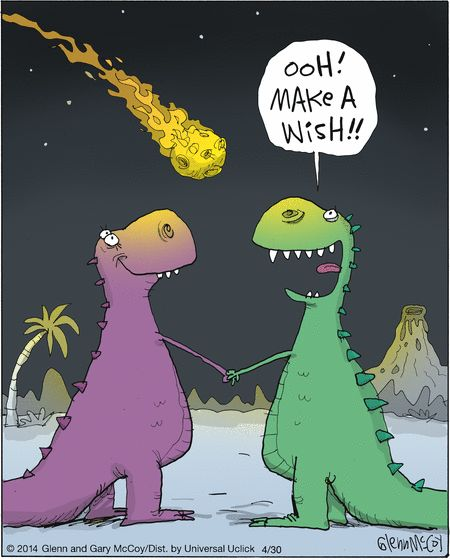 Dinosaur humor! The last star I see tonight.