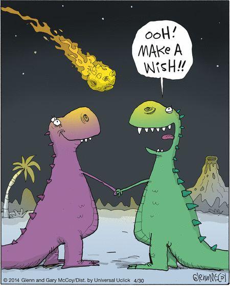Dinosaur humor! The last star I see tonight.