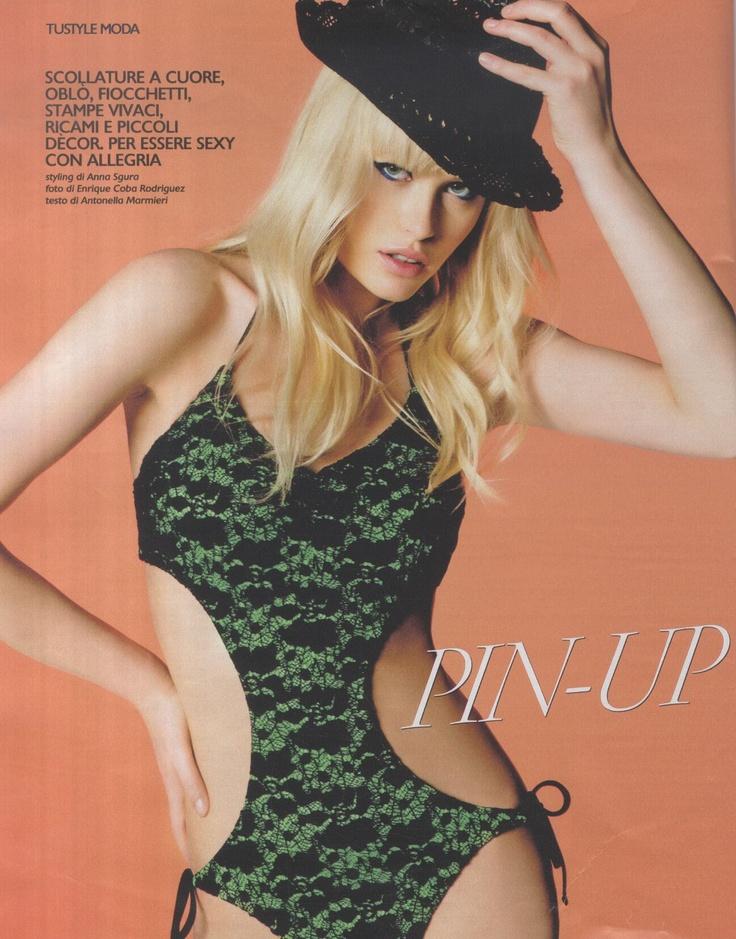 #Costumi Retrò  Trikini Caper di #SiSi  24,95€  #Saldi  http://shop.goldenpoint.com/it/IT/it/Interi-e-trikini-SiSi-Trikini-Caper-M732-NERO-VERDE-I_SSGLJ005.aspx