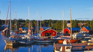 The autonomous Finnish province of Åland is located in the Baltic Sea between mainland Finland and Sweden.
