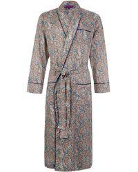 Liberty | Tessa Long Cotton Robe | Lyst