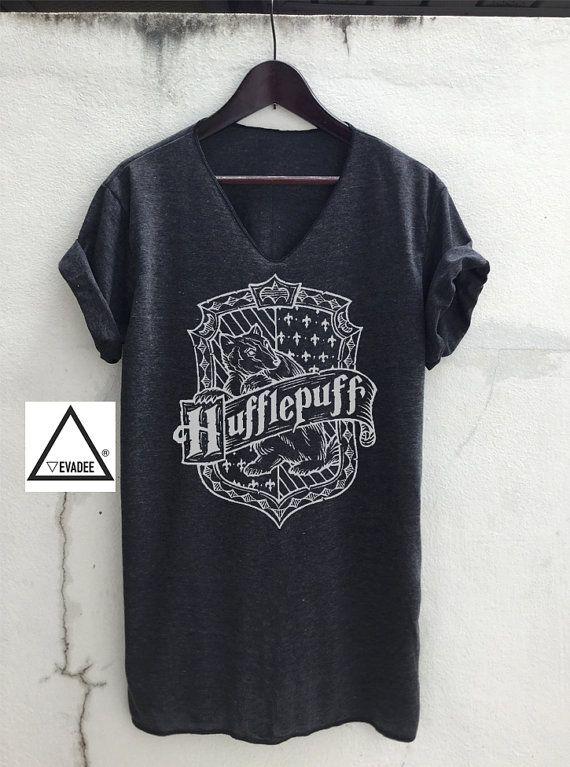 Hufflepuff Harry Potter v-Ausschnitt T-Shirts Vintage Unisex Größe S M L