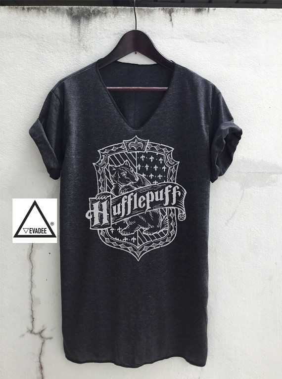 Hufflepuff Harry Potter V neck T-Shirts Vintage Unisex by VevaDee