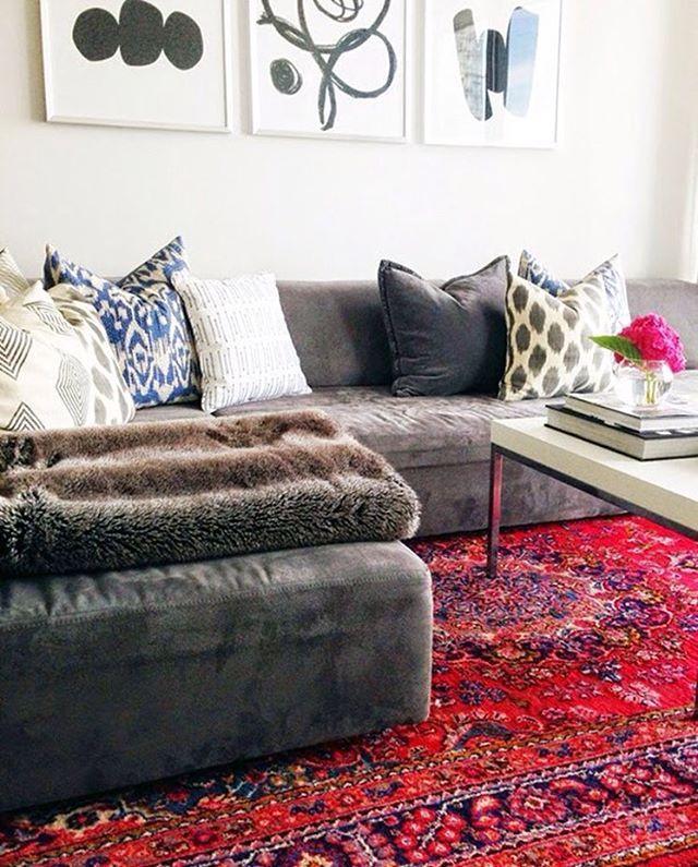 Design - Tapetes e Sensações:  Tapete persa em sala de estar. #arquitetura #arte…