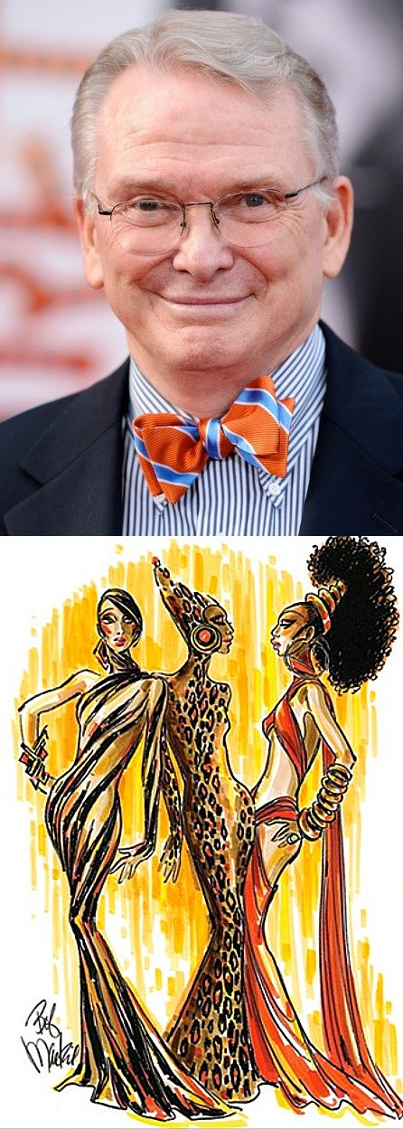 Bob Mackie - he's such a gentleman - I love to watch him on QVC and listen to his massive fashion wisdom - he's a REAL designer!
