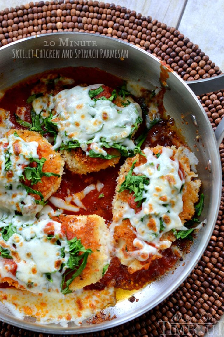 Skillet Chicken and Spinach Parmesan