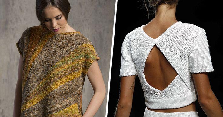 Летняя мода: множество идей для вязания.