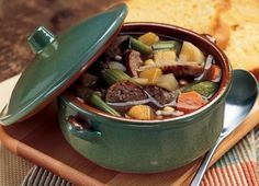 German Festival Soup - This has everything but the kitchen sink in it! YUMM (made with JOHNSONVILLE® Brats)