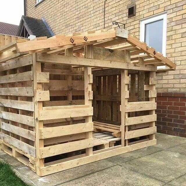 32 Best Pallet Furniture Cabinets And Wall Art Outdoor Pallet Projects Pallet Playhouse