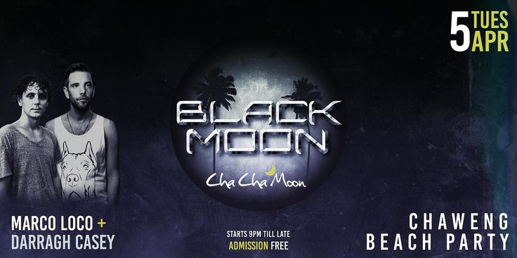 Cha Cha Moon Koh Samui Black Moon Party!