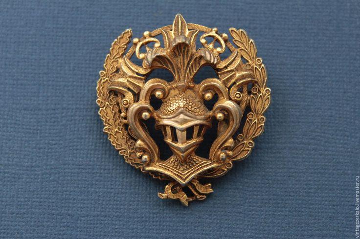 Купить 1960гг Florenza Рыцарский герб винтажная брошь - винтажная брошь, брошь винтажная