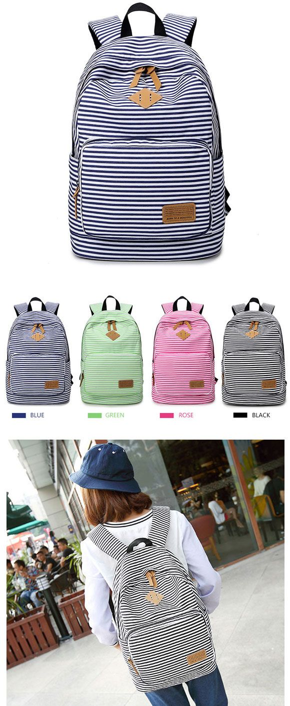 Summer Striped Leisure Canvas Backpack only $34.99