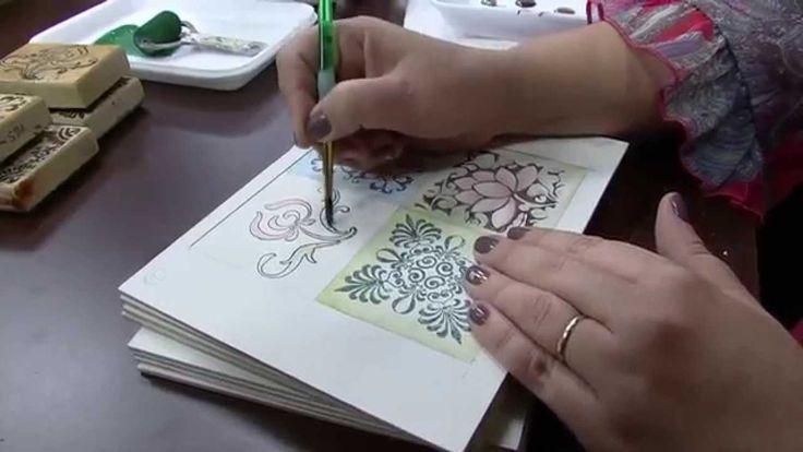 Mulher.com 25/09/2014 - Pintura Azulejo Hidráulico por Mara Fernandes