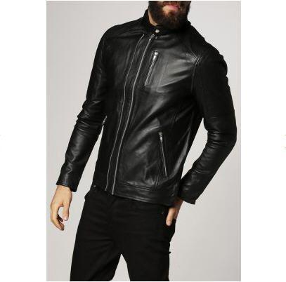 Veste homme Zalando, craquez sur la Jack & Jones JJTORI Veste en cuir noir prix promo Zalando 170.00 € TTC au lieu de 200 €
