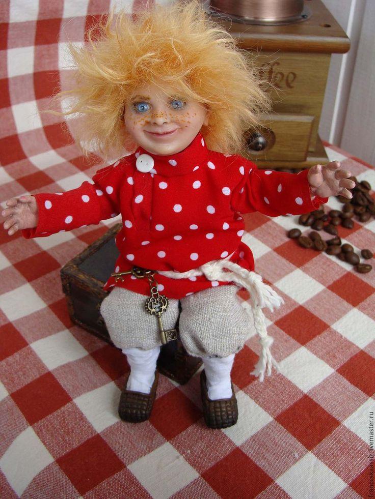 Купить Кузька на новоселье, авторская коллекционная кукла домовенок - коллекционная кукла, подарок, сувенир