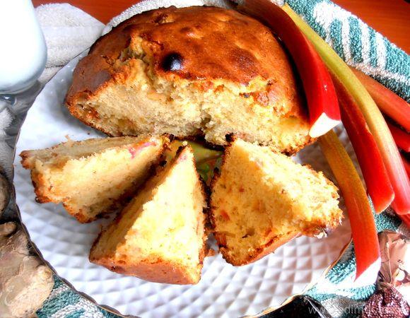 Солнечный кекс с ревенем и имбирем для Ксении