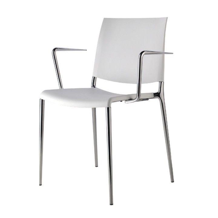 Jetzt bei Desigano.com Alexa Armlehnstuhl Gestell verchromt (Set 2 Stk) Stühle, Konferenzstühle von Rexite ab Euro 990,00 € Alexa edler Designerstapelstuhl mit Armlehnen Stapelbarer Armlehnstuhl Gestell und Armlehnen aus Aluminium-Spritzguss verchromt. Sitz und Rücken aus verstärktemPolypropylen UV-beständig, oder bezogenmit Leder oder Eco-Leder (Kunstleder). Verpackungseinheit: 2 Stück
