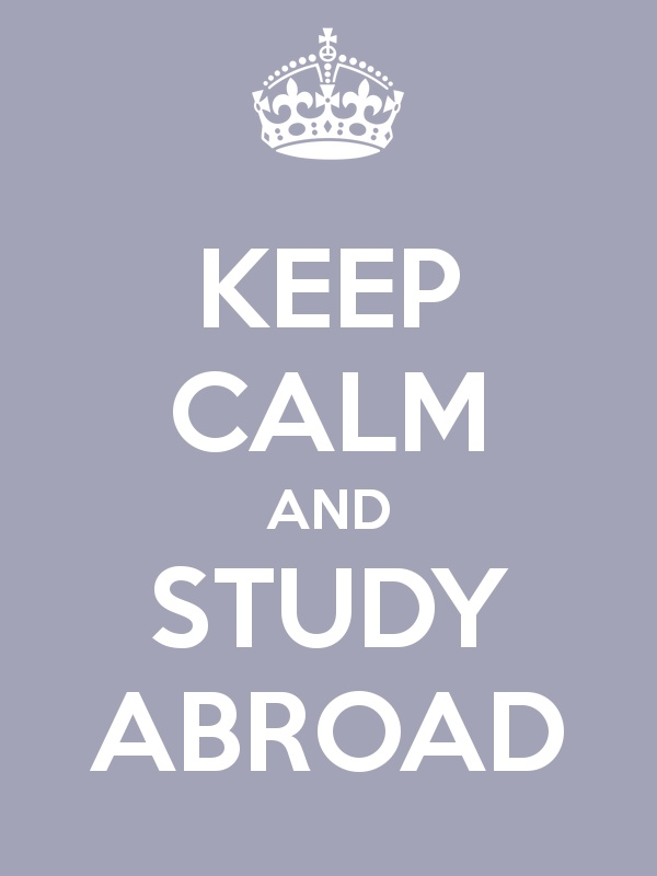 Keep Calm and Study Abroad >>> Cute poster!