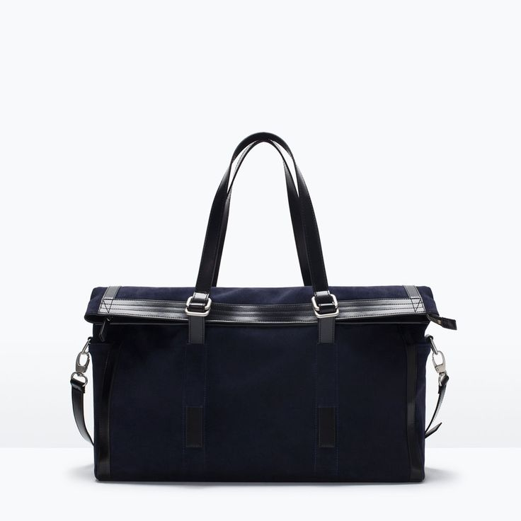 ZARA - SHOES & BAGS - COMBINED LEATHER BOWLING BAG