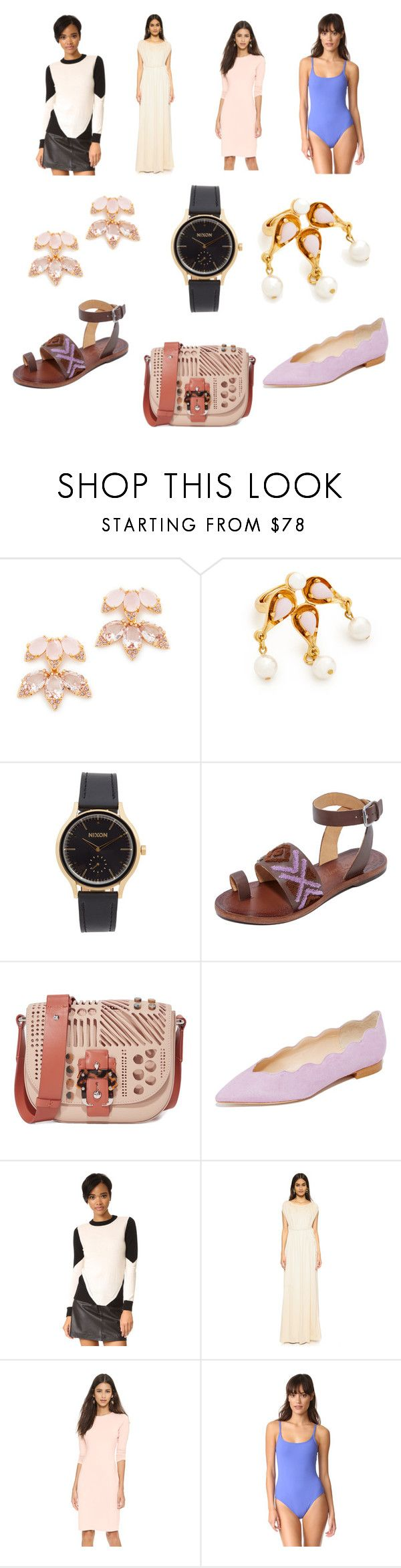 """new style"" by cate-jennifer ❤ liked on Polyvore featuring Kate Spade, Oscar de la Renta, Nixon, Free People, Paula Cademartori, Club Monaco, Top Secret Society, Rachel Pally, Susana Monaco and Karla Colletto"