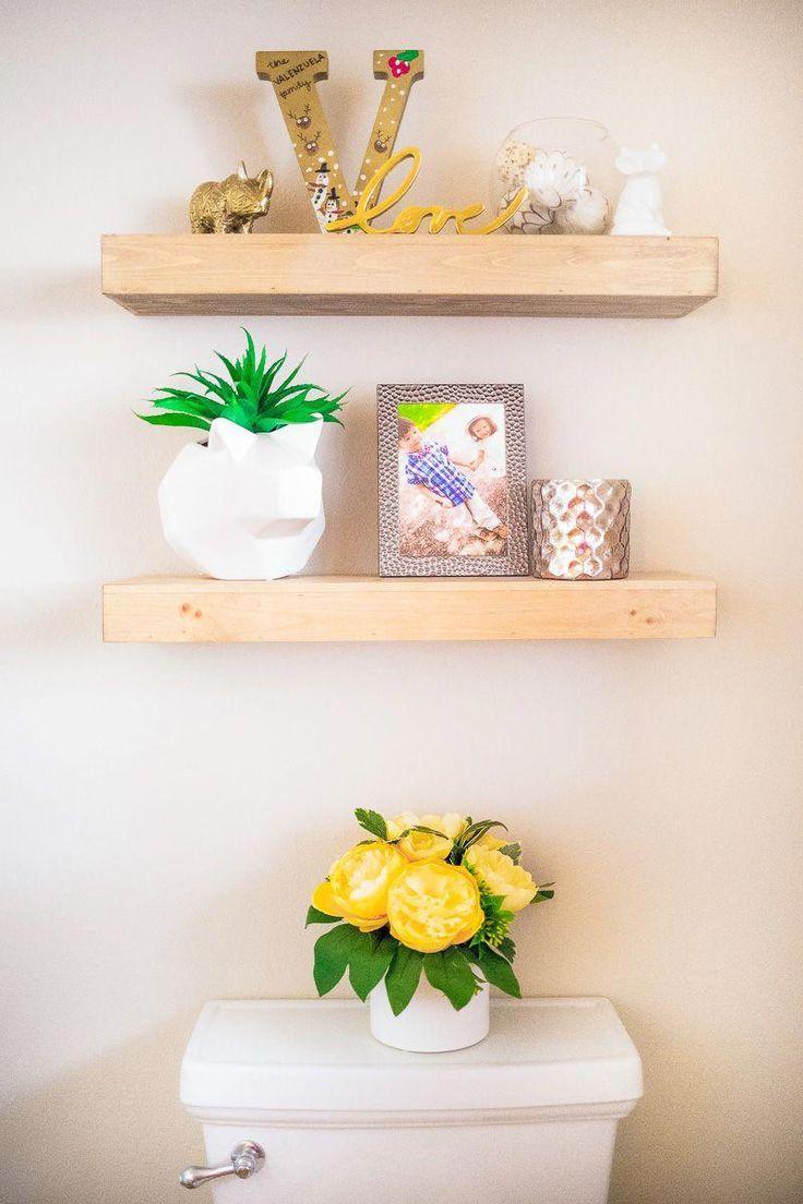 floating shelves above toilet | modern bathroom decor #modernbathroomfarmhouse  …   – shelves in bedroom