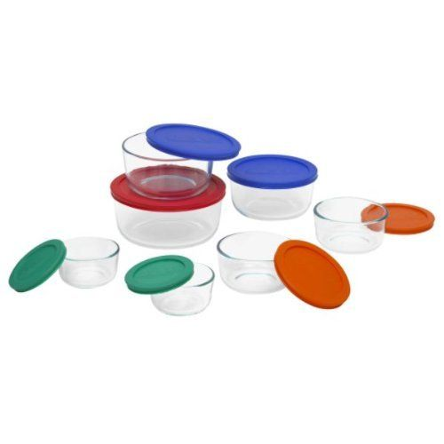 Pyrex 14 Piece Glass Container Storage Set with Covers by k. $68.77