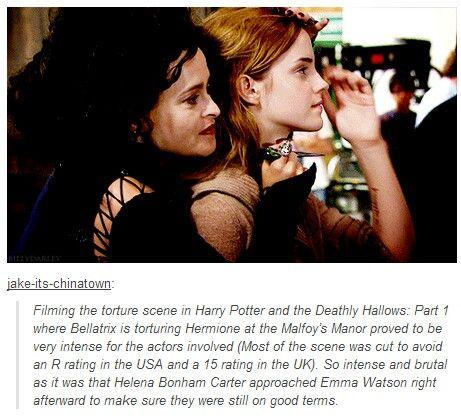 Nossa, quem diria, Belatrix e Hermione juntas???  Lindas