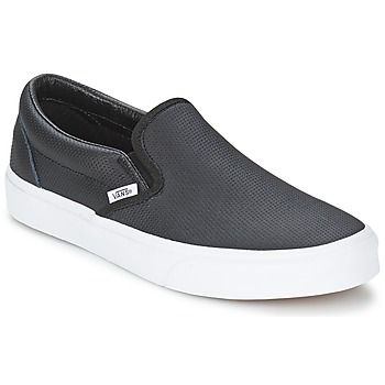 A pair of classic Vans slip ons in black can be worn with anything from jeans to a suit! #shoes #slipons #mens #vans #blackshoes #casual #fashion #autumn