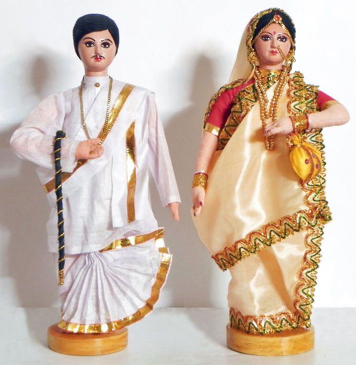 Bengali Couple, India  - Costume Cloth Dolls