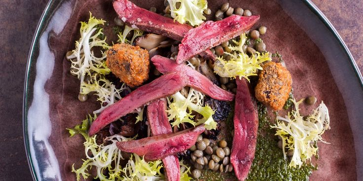 In this delicious Will Holland recipe, wood pigeon is cooked sous-vide and served with a crisp black pudding beignets and a vibrant salsa ve...